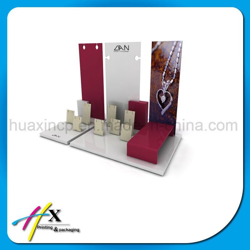 Fashionable Custom Wooden Jewelry Display Exhibition Stand