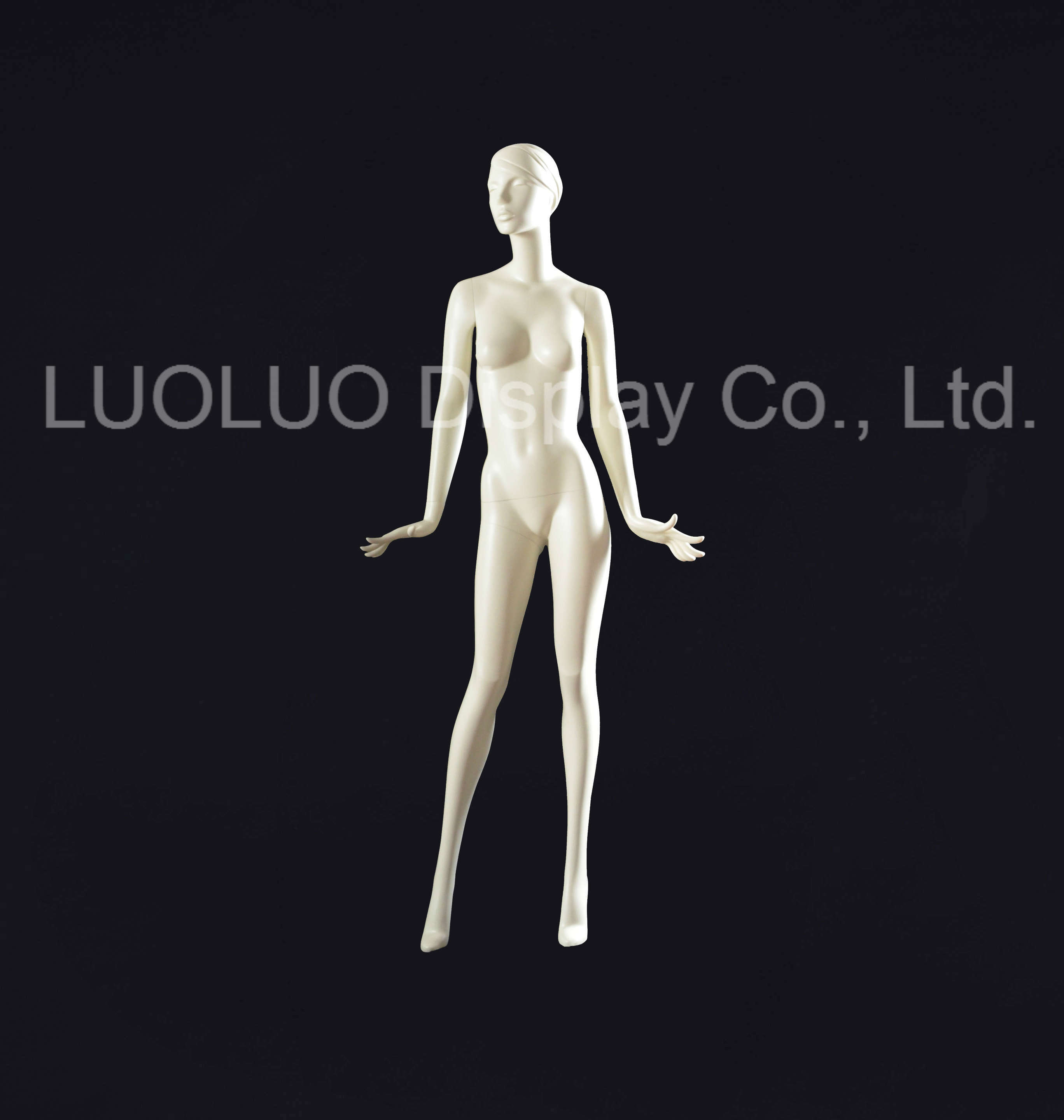 Origin Factory Design Abstract Face Mannequin with Hairs