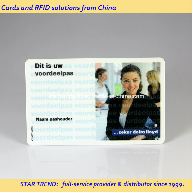 Plastic ID Card with Magnetic Stripe for Student Image Identification