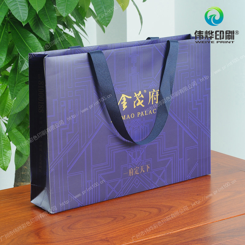 2017 Latest Designs Paper Printing Shopping Gift Bag (for Promotion)