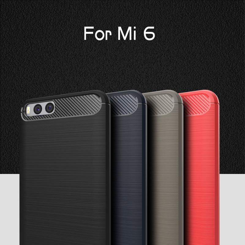 New Arrival! Carbon Texture Design TPU Phone Case for Xiaomi Mi 6