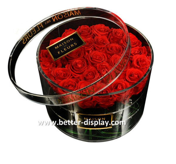 Professional Manufacturer of Acrylic Rose Box/Custom Luxury Acrylic Flower Box