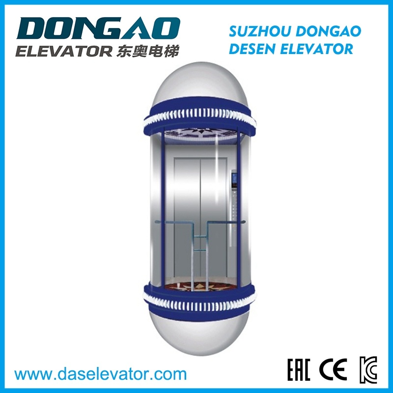 Panoramic Observation Elevator with Glass Cabin-Half Round Series