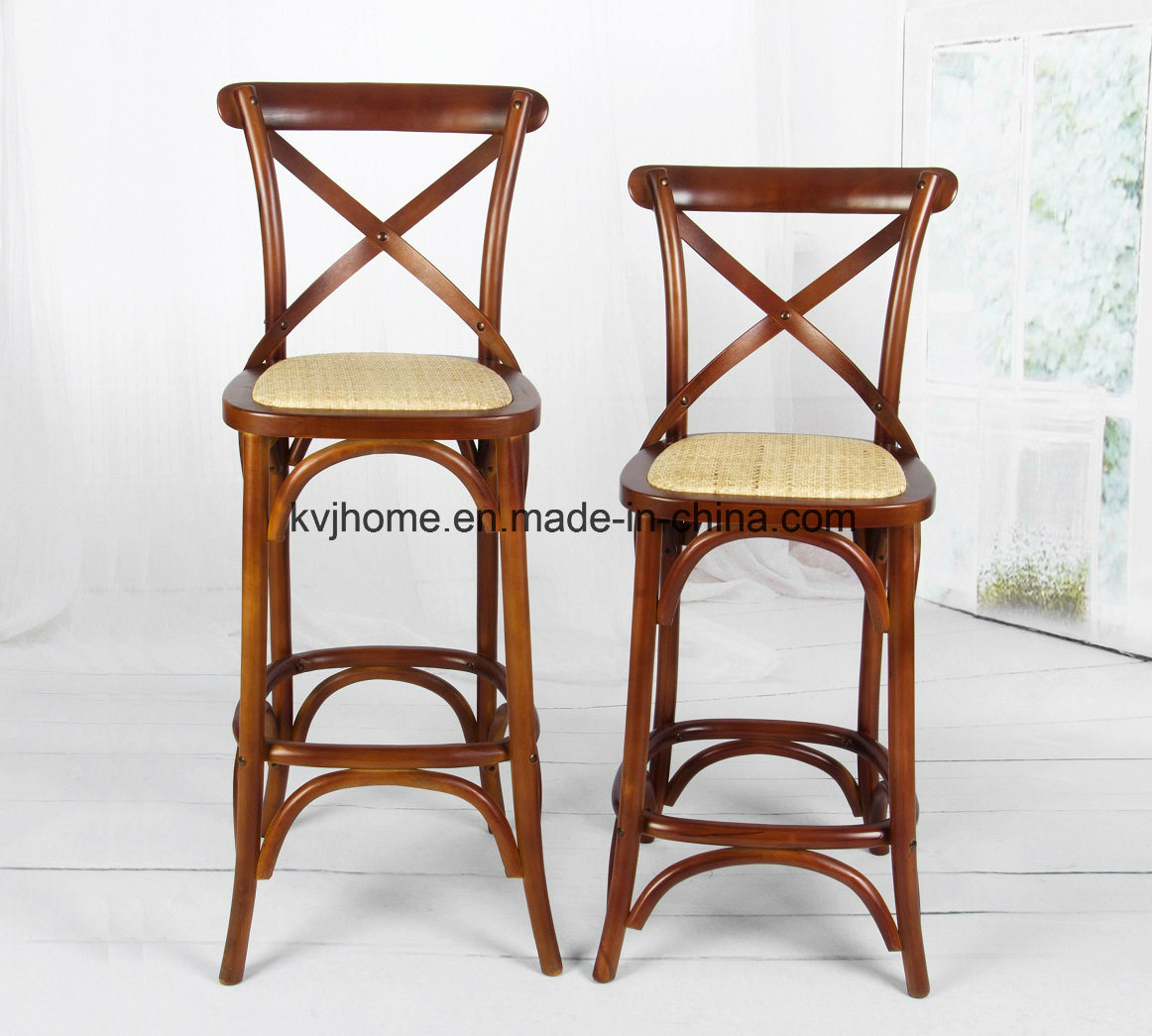High Quality Wooden X Back Bar Chair (DC-112)