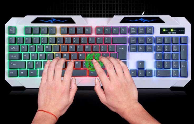 Bright Backlit Gaming Emitting Waterproof Laptop Desktop USB Computer Keyboard