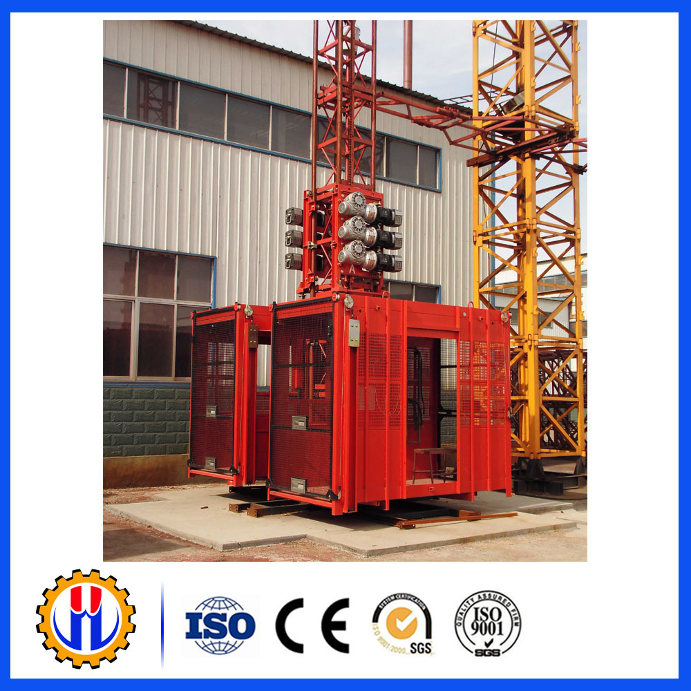 High Quality Single Cage Construction Hoist / Construction Elevator