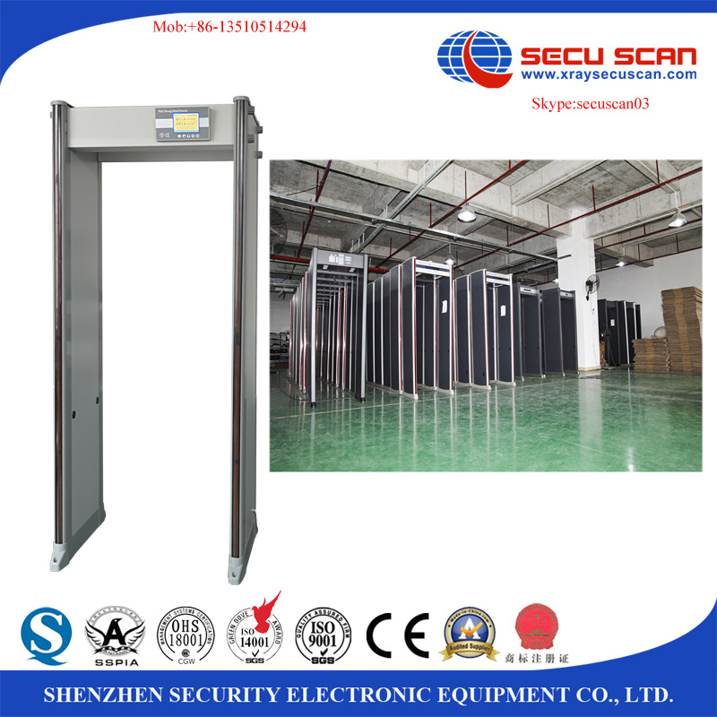 33 zones archway metal detectors for airport, government agencies, events
