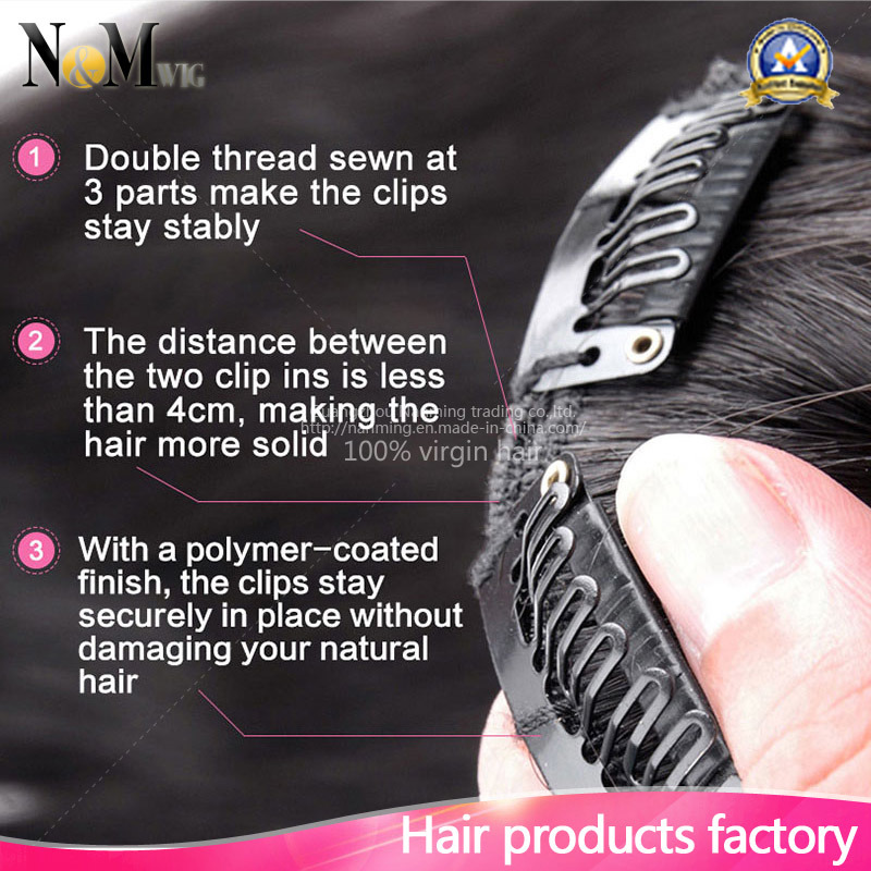 Wholesale Market Keratin Hair Extension / Brazilian Virgin Hairpiece (QB-CLI-BW)