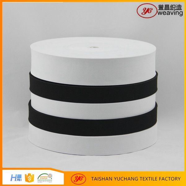 Eco-Friendly White Black Knitted Elastic Tape with Nrt Rubber