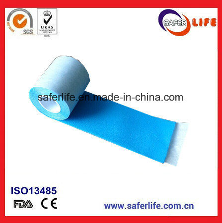 Soft 1 Quick Aid Blue Breathable Foam Bandage Wrap Elastic Cohesive Bandage Latex Plaster