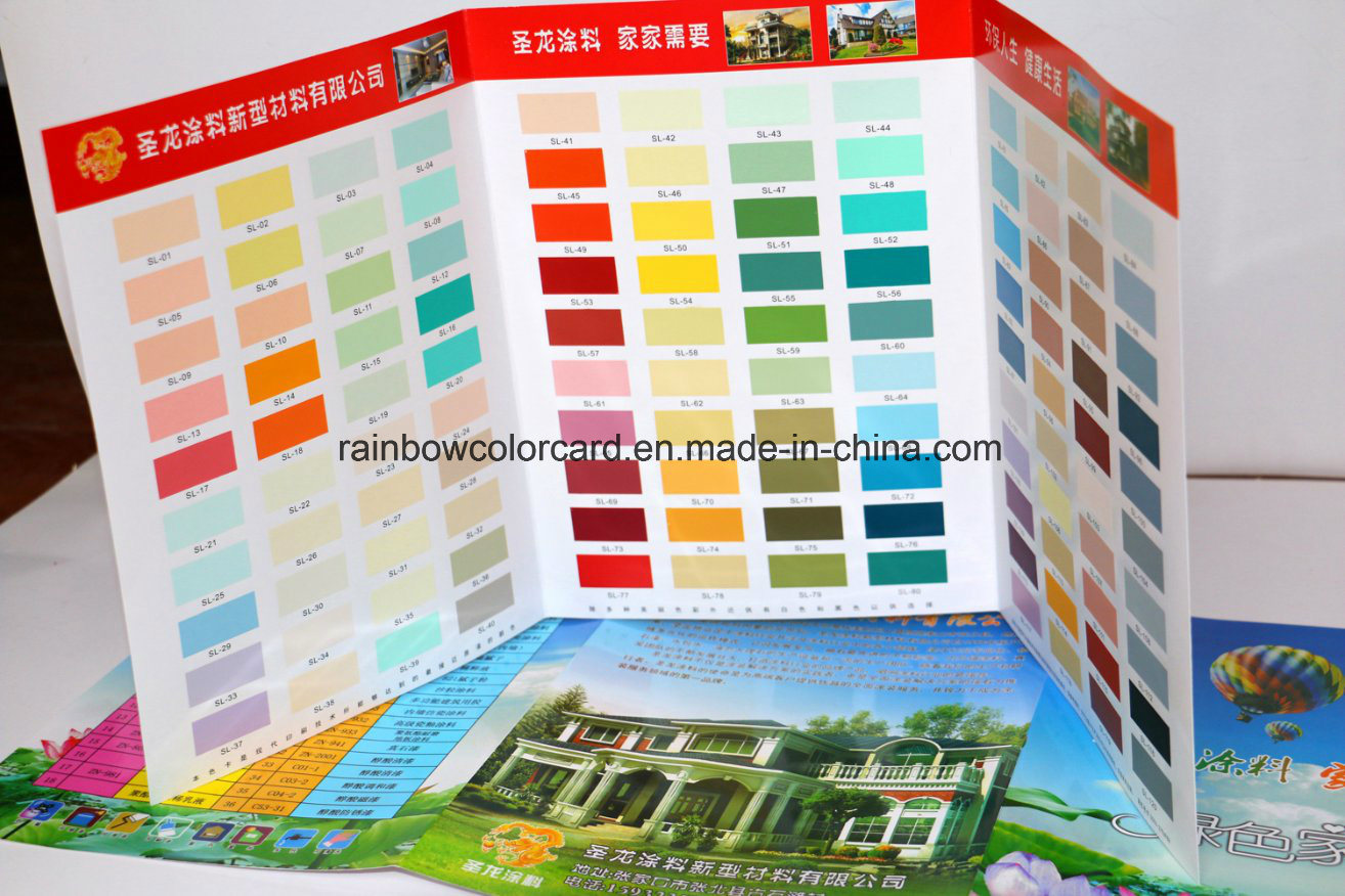 Colorful Customized Paint System Color Card