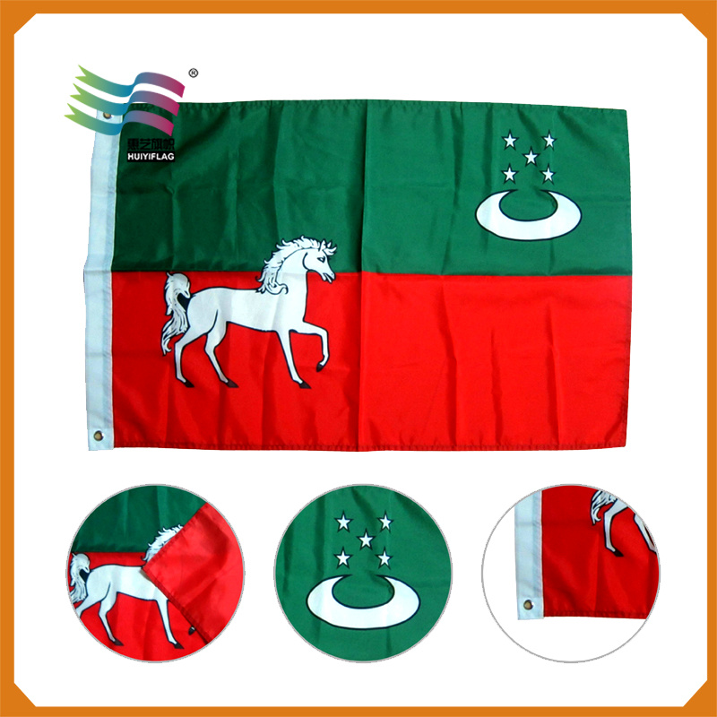 Promotion Printing Polyester Display Advertising National Flag (HY0386)