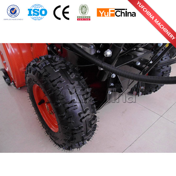 Double Tyres 1m Working Width 13HP Snow Thrower Loncin Engine