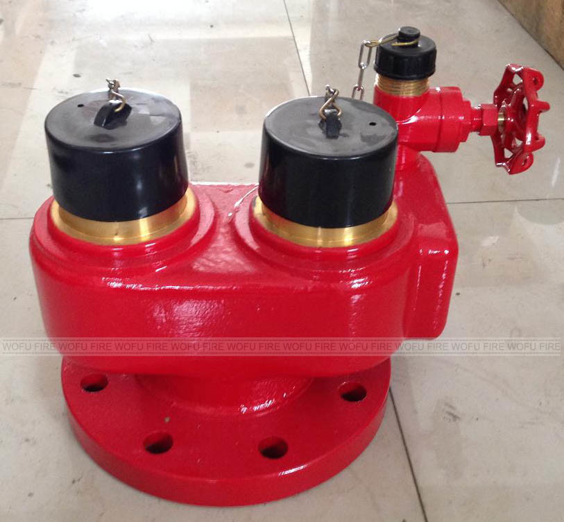4-Way Fire Hydrant Breeching Inlet Valve for Gas in and out