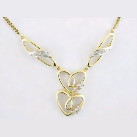 China fine gold jewelry 10k gold diamond necklace ned2010 for Fine jewelry diamond pendants