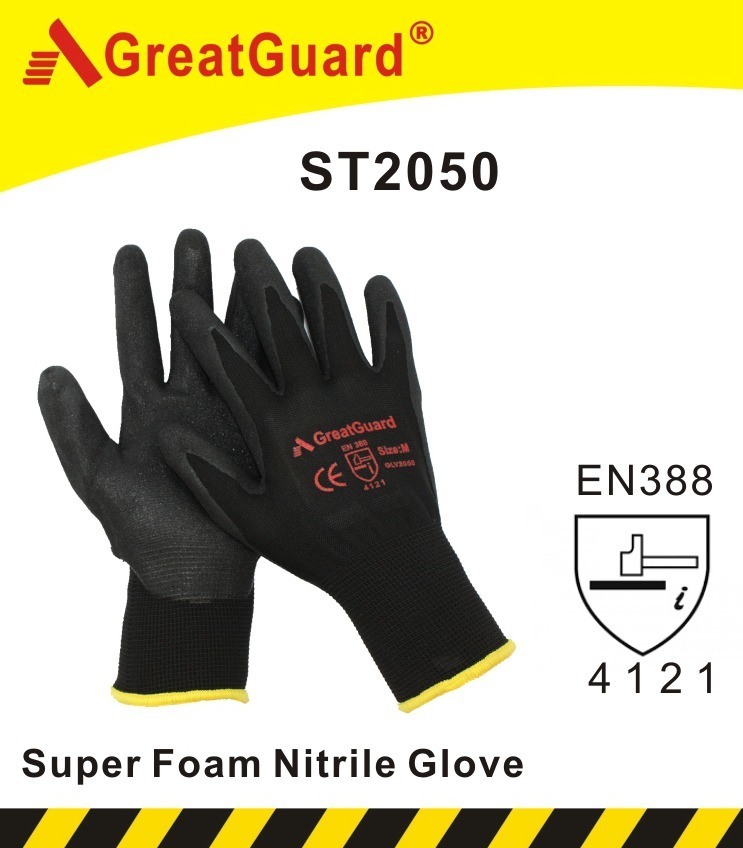 Sandy Foam Finish Nitrile Glove (CE Certificated)