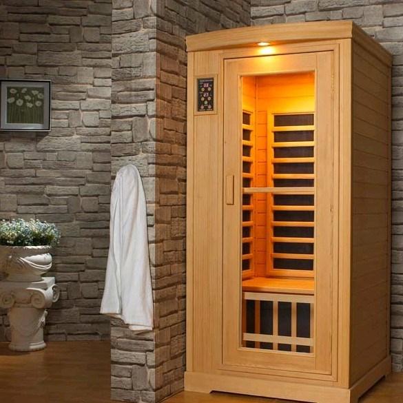 Interior saunas infrarrojo lejano para 1 persona - Calentador para sauna ...