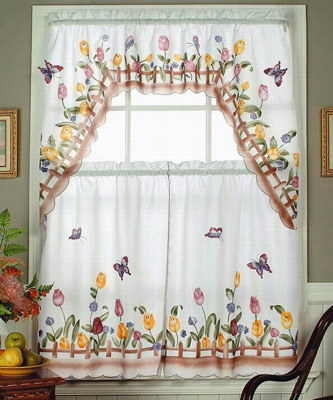 Colonial Star Curtains, One Point Valance, Tablecloth, Placemats