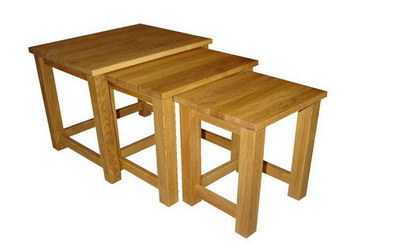 Solid Oak Nesting Table (OF-317)