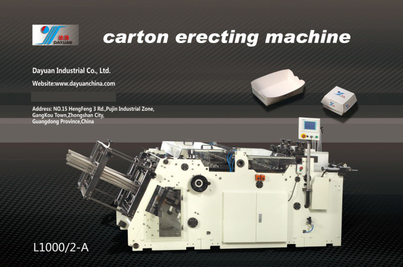 Carton Erecting Machine (L1000/2-A), Tray Forming Machine