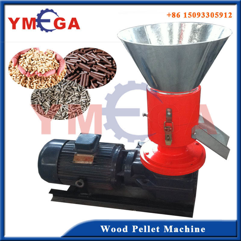 Automatic Flat Die Biomass Sawdust Wood Pellet Machine
