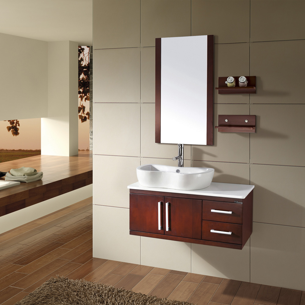 solid wood bathroom cabinet kl267 china bathroom cabinets