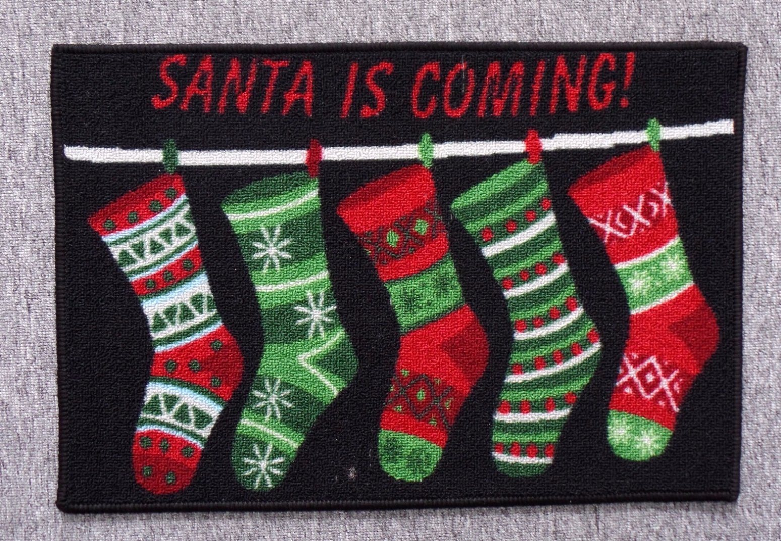 Nylon Rugs, with Christmas Patterns, #5