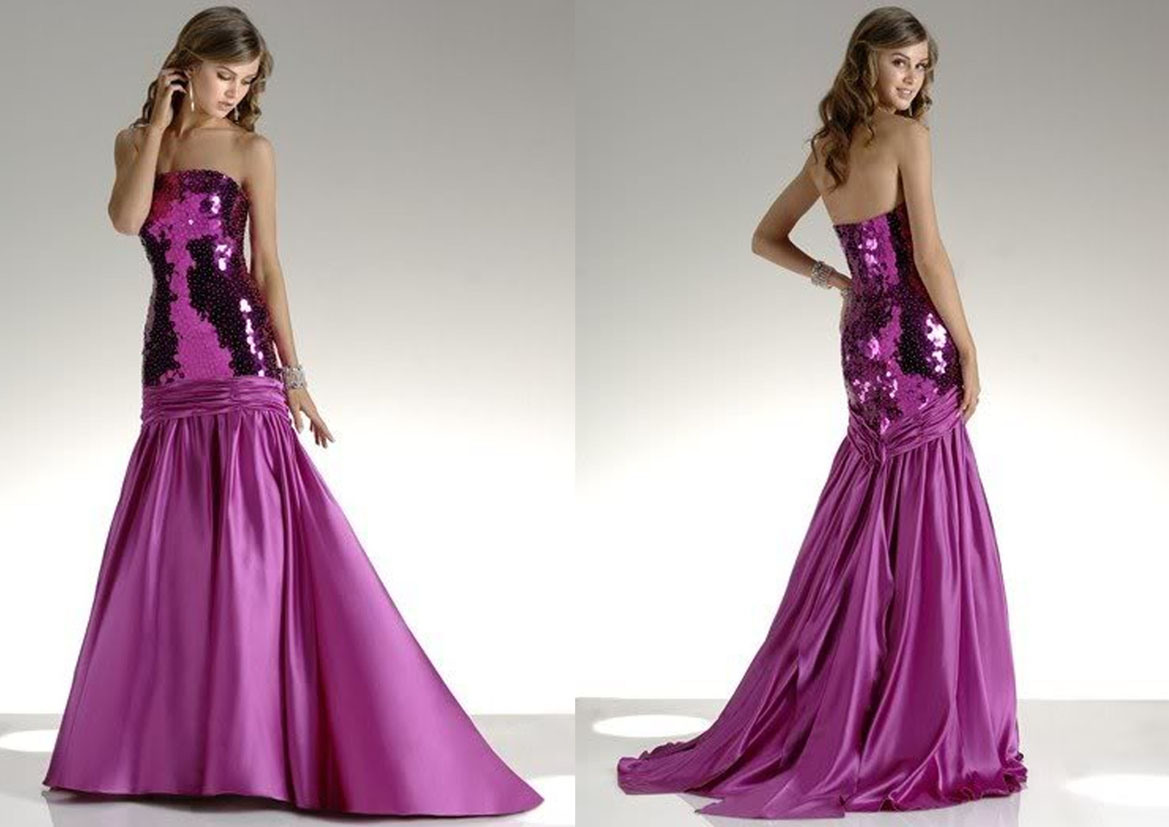 Purple red party prom dress rs 202