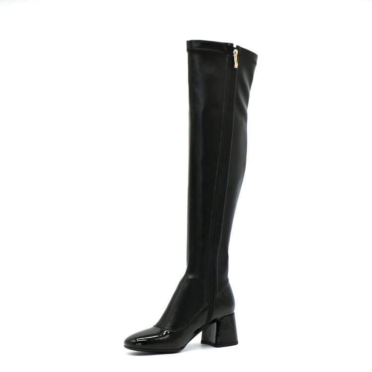 Wholesale Women Over The Knee High Heels Leather Boots