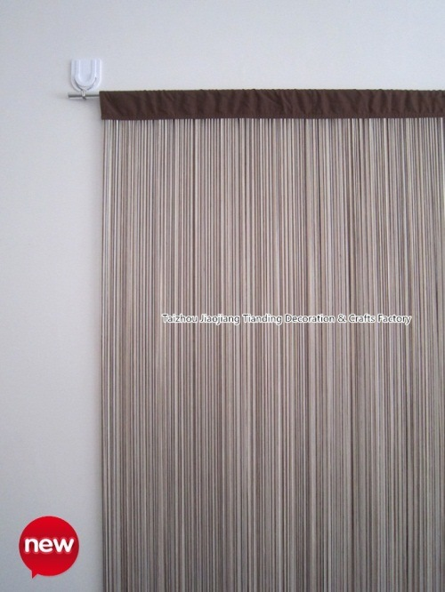 Polyester mixed color string curtain tds021 china string curtain
