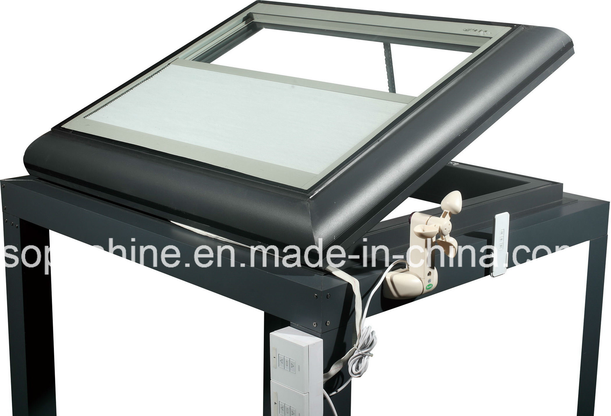 Automatic Skylight with Auto Close System/Built in Cellular Shades in Insulated Glass