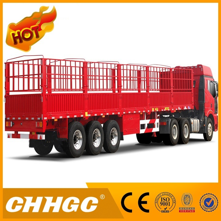 Low Price 60t Stake / Fence Truck Trailer for Personal Use Transportation