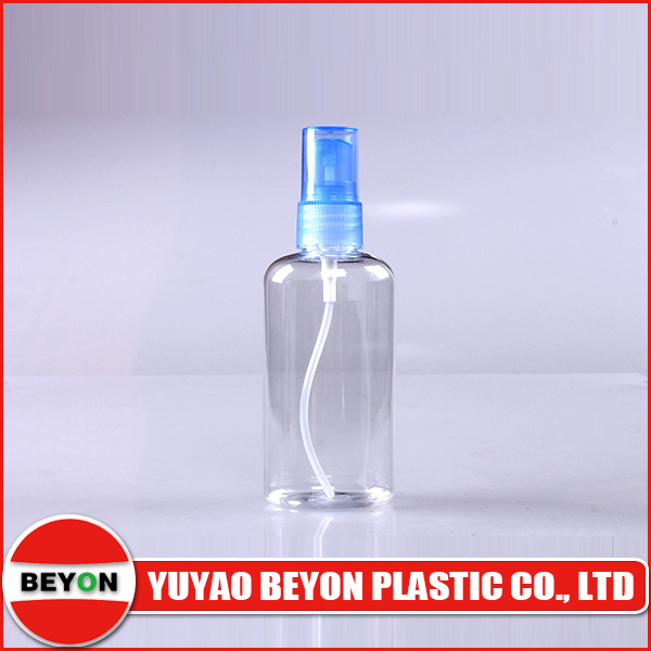 100ml Oval Shaped Plastic Pet Cosmetic Bottle with Sprayer