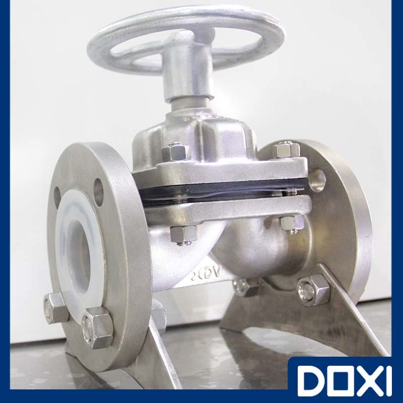 Stainless Steel PTFE Lined Diaphragm Valve