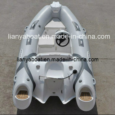 Liya 4people PVC Inflatable Rubber Boat Motor Boat for Sale