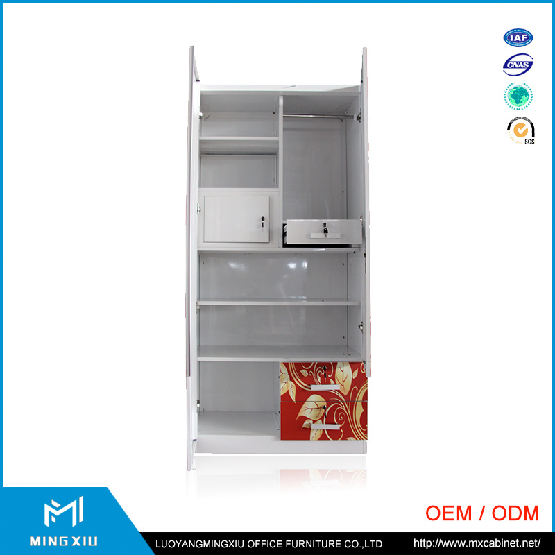 Excellent Quality Indian Style 2 Door Modern Steel Almirah / Bedroom Almirah Design