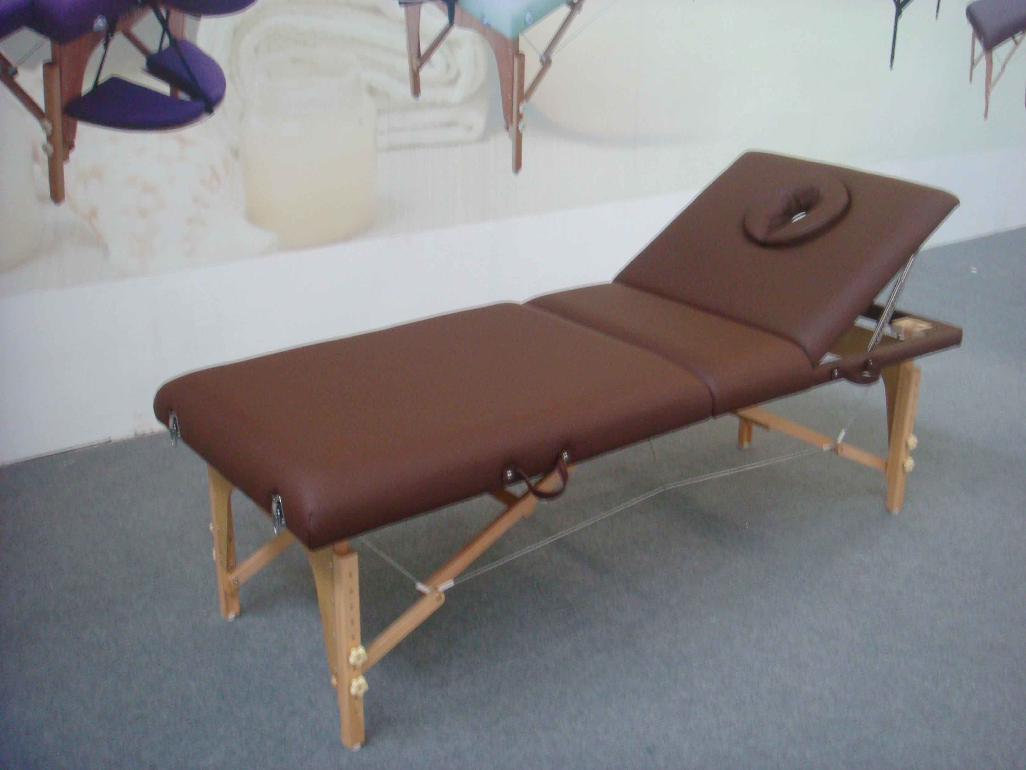 Portable Wooden Massage Table with Adjustable Backrest (MT-009-2)