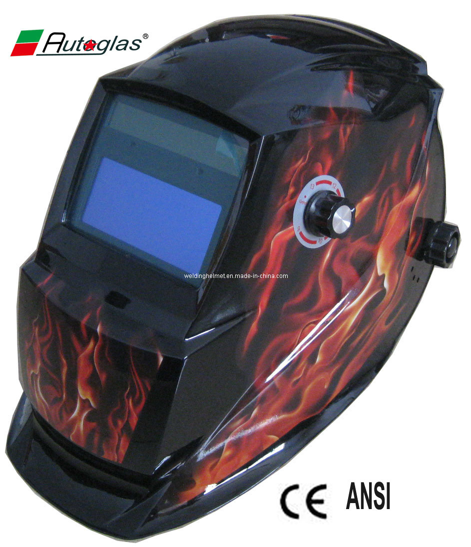 CE/ANSI, Big Size/ 9-13 Auto-Darkening Welding Helmet/Welding Mask (F1190TE)