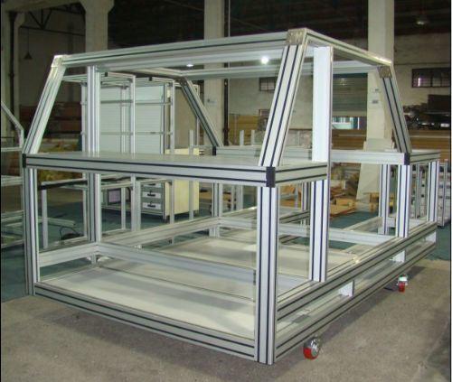 Aluminum Extrusion Profile Display Cabinet for Equipment