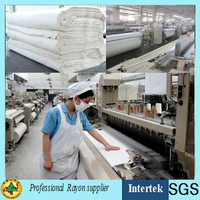 Man-Made Fiber Fabric Grey 100%Rayon Supplied by Factory