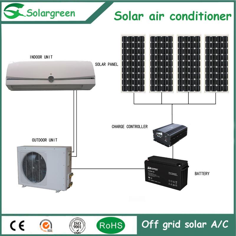Solar Panel Energy Saving off Grid DC Solar Air Conditioner