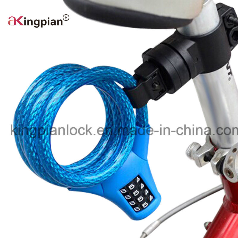 Resettable Combination Code Cable Lock for Bicycle