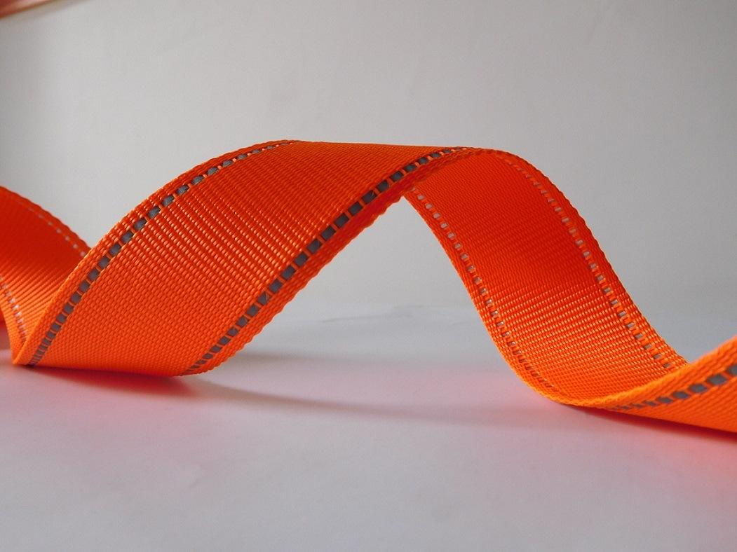 35mm Orange Polyester Webbing for Garment Accessories
