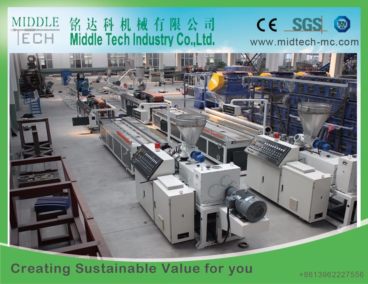 PVC/WPC Wood Plastic Composite Wall Panel/Ceiling Profile/Decking/Door Board/Pipe Extrusion Machine
