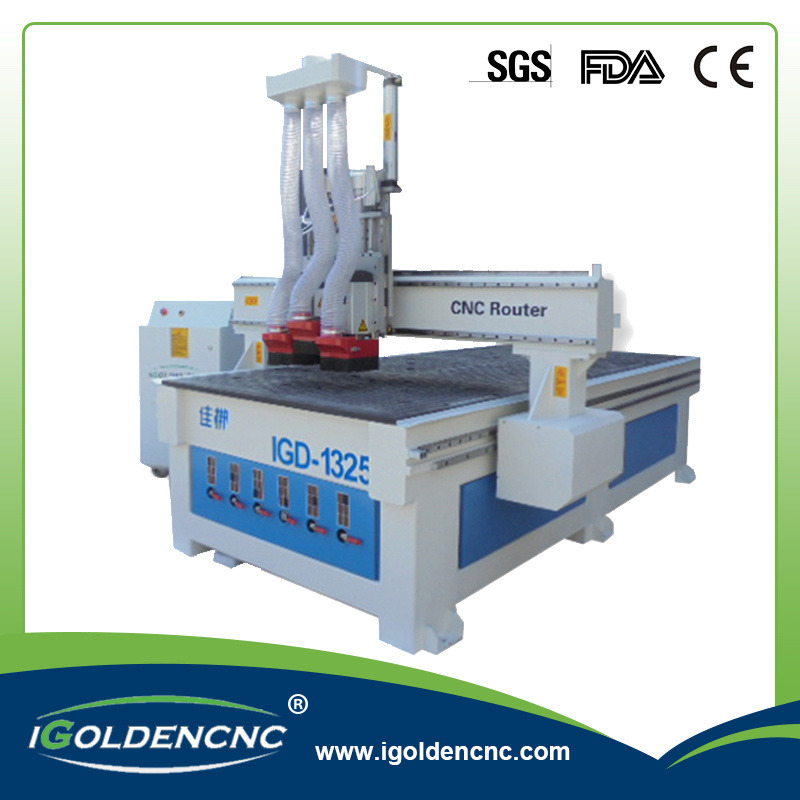 Multi Head CNC Router for Woodworking, Furniture Making, Door Making