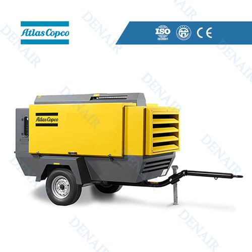 Atlas Copco AC High Pressure Diesel Portable Mobile Screw Air Compressor