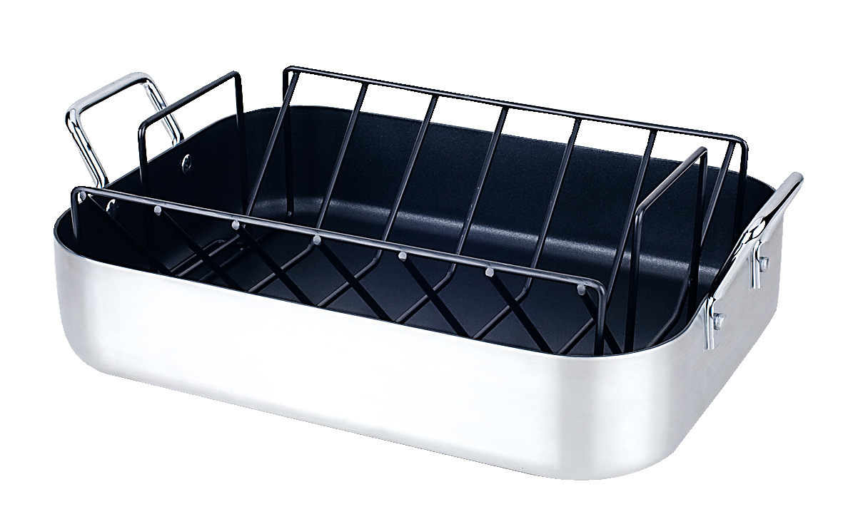 Alu. Roasting Pan with Rack Rack (1039S)