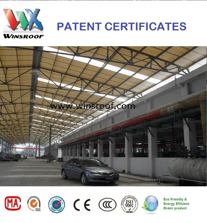 Carbon Fiber Roof Tile (UPVC tejas) Winsroof Patent Products