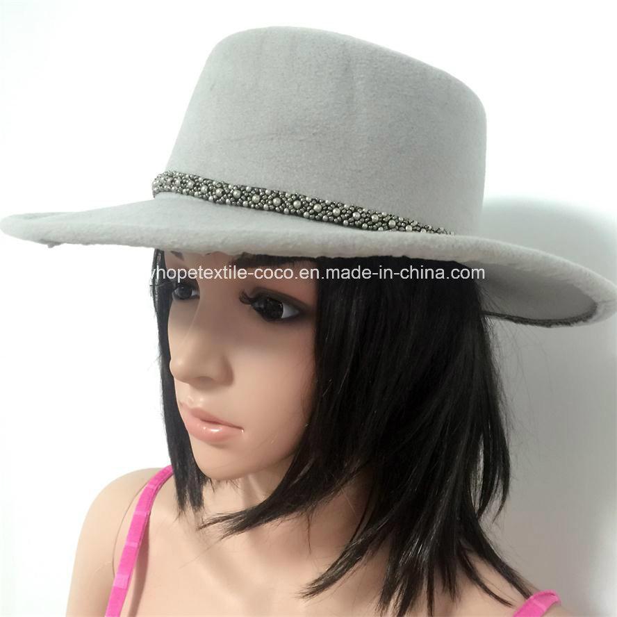 Fashion Fake Wool Falt-Top Hat