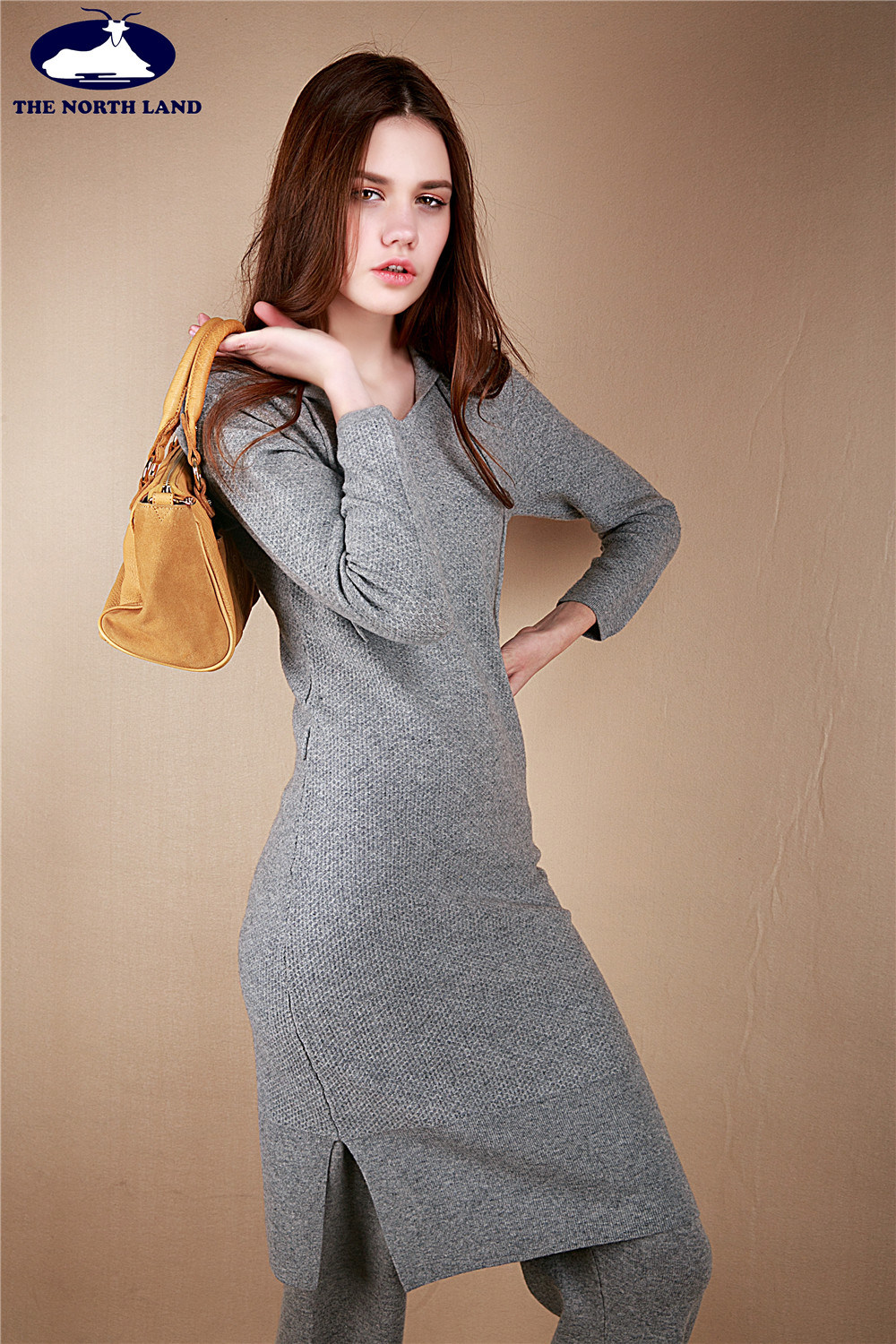 Cashmere Hoodie Long Skirt